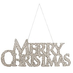 Debenhams - Silver 'Merry Christmas' sign