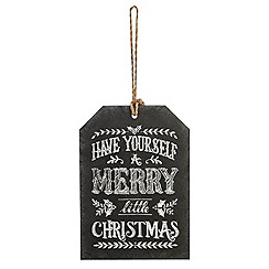 Debenhams - Black 'Have a Merry Christmas' chalkboard sign