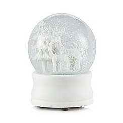Debenhams - White 10cm Christmas snow globe