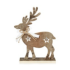 Debenhams - Wooden Christmas reindeer ornament