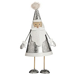 Debenhams - Silver Santa bouncer Christmas decoration