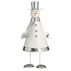Debenhams - Silver snowman bouncer Christmas decoration