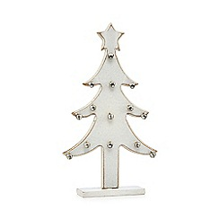 Debenhams - White Christmas trees with bells
