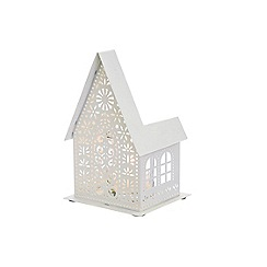 Debenhams - White house Christmas tea light holder