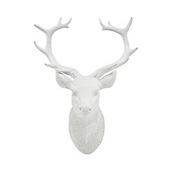 Debenhams - White Christmas wall mounted reindeer