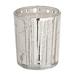 Debenhams - Silver Christmas candle with a reindeer design