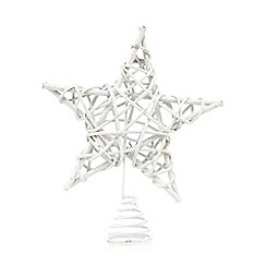 Debenhams - White star Christmas tree topper