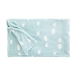 Debenhams - Blue polar bear throw