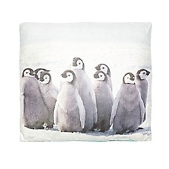 Debenhams - White penguin themed cushion