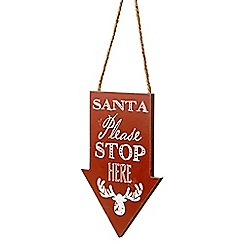 Heaven Sends - Santa 'stop here' arrow Christmas sign