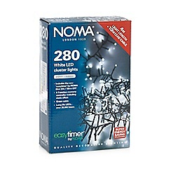 Noma - 280 LED white cluster Christmas lights with timer