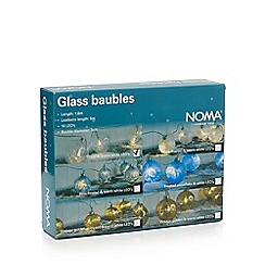 Noma - Glass tinsel Christmas baubles with 10 LED lights