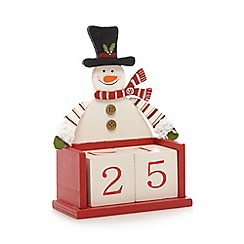 Heaven Sends - Red Christmas snowman calendar blocks
