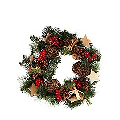Debenhams - Green berry star wreath
