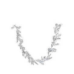 Debenhams - Silver juniper leaf garland