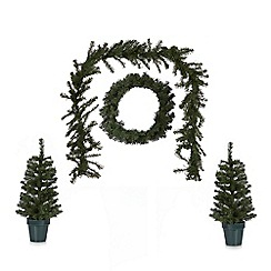 Debenhams - Four piece Christmas door decoration set