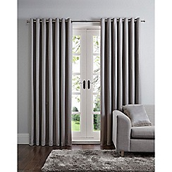 Home Collection - Silver geo jacquard eyelet curtains