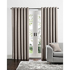 Home Collection - Natural linen look eyelet curtains