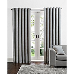 Home Collection - Grey linen look eyelet curtains