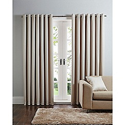 Home Collection - Natural geo jacquard eyelet curtains