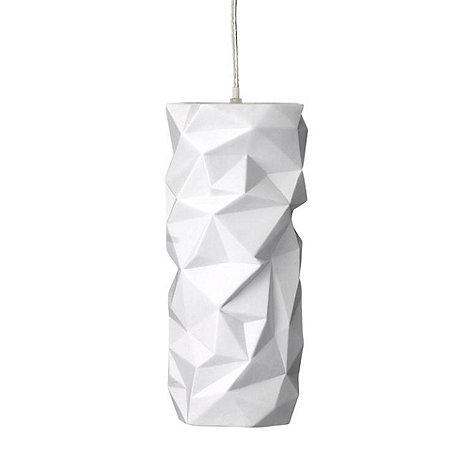 Bloomingville - Porcelain geo lampshade