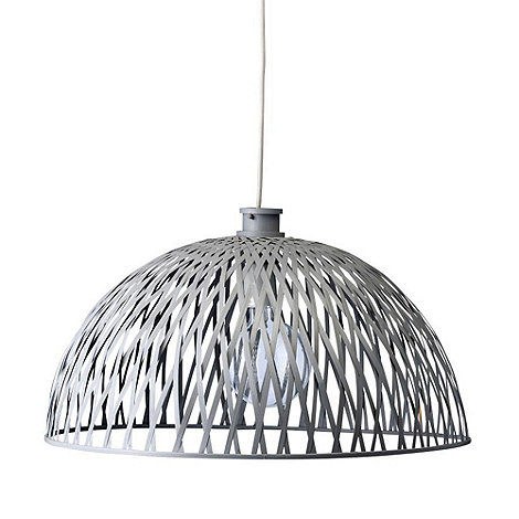 Bloomingville - Dark grey cross over basket lampshade