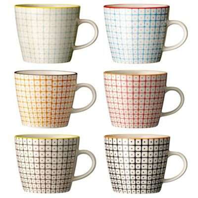 Bloomingville Set of six porcelain ´Carla´ s - . -