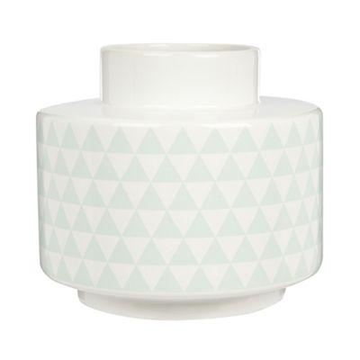 Bloomingville White large ceramic geometric printed - . -