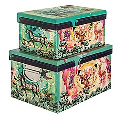 Laura Oakes - 'Go Seek' pair of storage boxes