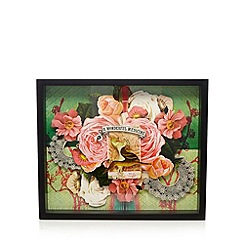 Laura Oakes - Designer black 3D rose garden wall art