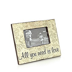 Heaven Sends - Wooden 'All you need is love' photo frame