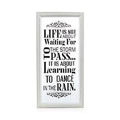Heaven Sends - Glass 'Dancing in the rain' wall art