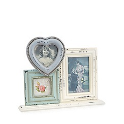 Sass & Belle - Cream heart wood multi frame
