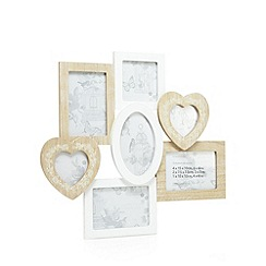 Debenhams - Wooden seven aperture photo frame