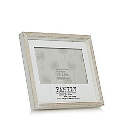 Debenhams - White washed wood family frame