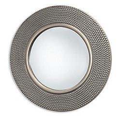 Innova - Round hammered silver mirror