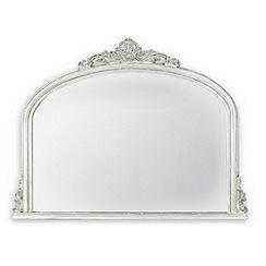Innova - Amarone distressed white over-mantel mirror