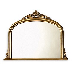 Innova - Amarone gold over-mantel mirror
