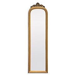 Innova - Amarone crowned gold hall mirror
