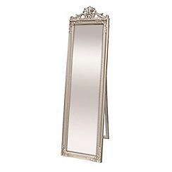 Innova - Kensington silver cheval mirror with crown