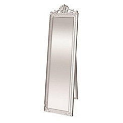 Innova - Kensington white cheval mirror with crown