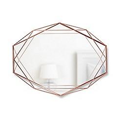 Umbra - Copper 'Prisma' wall mirror