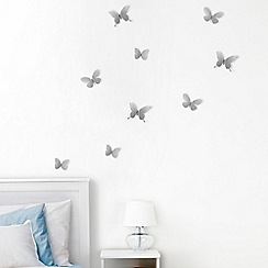 Umbra - Nickel 'Mariposa' wall decoration