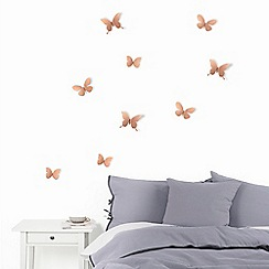 Umbra - Copper 'Mariposa' wall decoration
