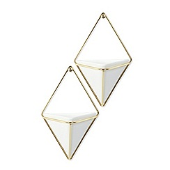 Umbra - White Trigg wall planter set of 2