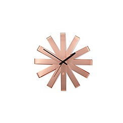 Umbra - Copper ribbon wall clock