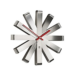 Umbra - Ribbon Wall Clock - Silver