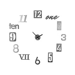 Umbra - Numbra silver wall clock