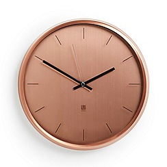 Umbra - Meta Wall Clock - Copper