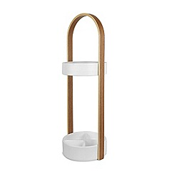 Umbra - White 'Hub' umbrella stand